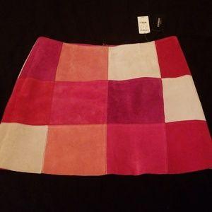 Express suede skirt